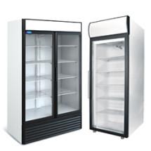 Среднетемпературные шкафы (0...+7) со стеклянной дверью